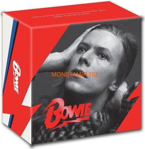 Великобритания 25 фунтов 2020 Дэвид Боуи Легенды Музыки ( GB 25£ 2020 David Bowie Music Legends Quarter-Ounce Gold Proof Coin ).Арт.92E (фото, вид 3)