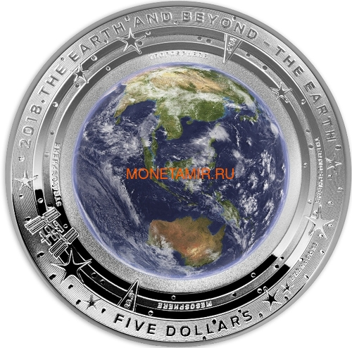 Австралия 5 долларов 2018/19 Земля Луна Солнце серия За Пределами Земли Набор Три Монеты Выпуклая (Australia 2018/19 $5 Earth Moon Sun Beyond the Earth Silv Proof Domed Coin).Арт.92 (фото, вид 1)