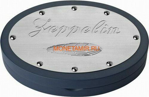 Острова Кука 50 долларов 2013 Дирижабль Цеппелин Перламутр (Cook Isl 50$ 2013 Rigid Airship The Zeppelin Mother of Pearl 5oz Silver Coin Proof).Арт.001885442948/60 (фото, вид 3)
