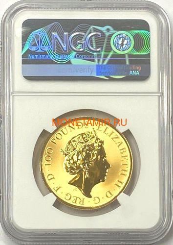 Великобритания 100 фунтов 2020 Мэйфлауэр Корабль Слаб ( GB 100£ 2020 Mayflower 1oz Gold Proof Coin NGC PR70 UC ).Арт.92E (фото, вид 2)
