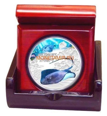Тувалу 1 доллар 2021 Скат серия Смертельно Опасные ( Tuvalu 1$ 2021 Deadly and Dangerous Stingray 1oz Silver Coin ).Арт.92 (фото, вид 2)