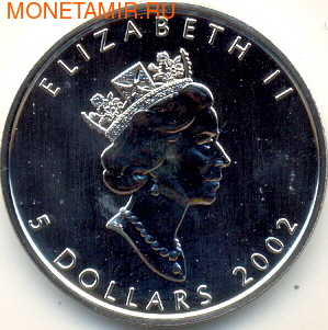 Канада 5 долларов 2002. Утка (голограмма) (фото, вид 1)