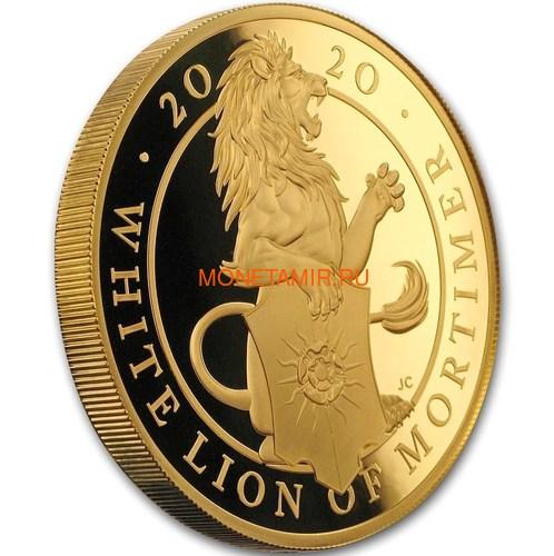 Великобритания 500 фунтов 2020 Белый Лев Мортимера серия Звери Королевы (GB 500£ 2020 Queen's Beast White Lion of Mortimer 5oz Gold Coin).Арт.90 (фото, вид 1)