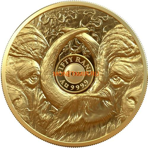 Южная Африка 50 рандов 2021 Буйвол Большая Африканская Пятерка (South Africa 50 Rand 2021 Buffalo Big Five 1oz Gold Coin).Арт.92 (фото, вид 1)
