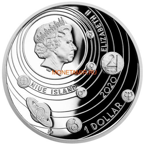 Ниуэ 1 доллар 2020 Солнечная Система Марс (Niue 1$ 2020 Solar System Mars 1Oz Silver Coin).Арт.CZ/92 (фото, вид 1)