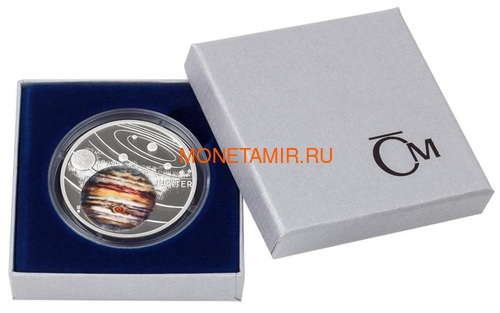 Ниуэ 1 доллар 2020 Солнечная Система Юпитер (Niue 1$ 2020 Solar System Jupiter 1Oz Silver Coin).Арт.CZ/92 (фото, вид 2)