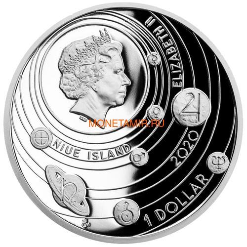 Ниуэ 1 доллар 2020 Солнечная Система Юпитер (Niue 1$ 2020 Solar System Jupiter 1Oz Silver Coin).Арт.CZ/92 (фото, вид 1)