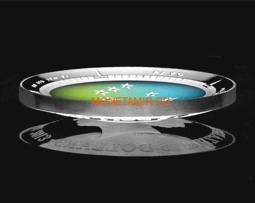 Австралия 5 долларов 2013 Созвездие Павлин Южное Полушарие Выпуклая (Australia 5$ 2013 Southern Sky Pavo Domed 1oz Silver Coin).Арт.000360747765/60 (фото, вид 1)