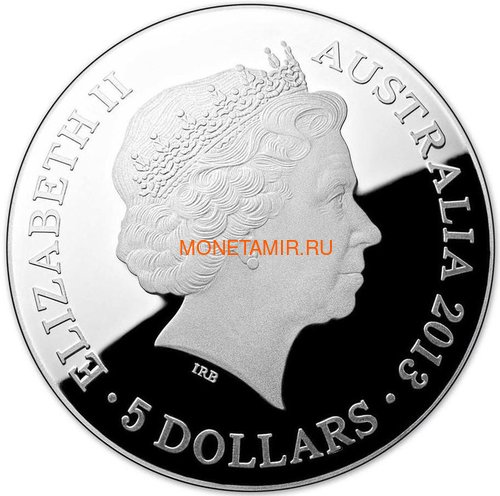 Австралия 5 долларов 2013 Созвездие Павлин Южное Полушарие Выпуклая (Australia 5$ 2013 Southern Sky Pavo Domed 1oz Silver Coin).Арт.000360747765/60 (фото, вид 2)