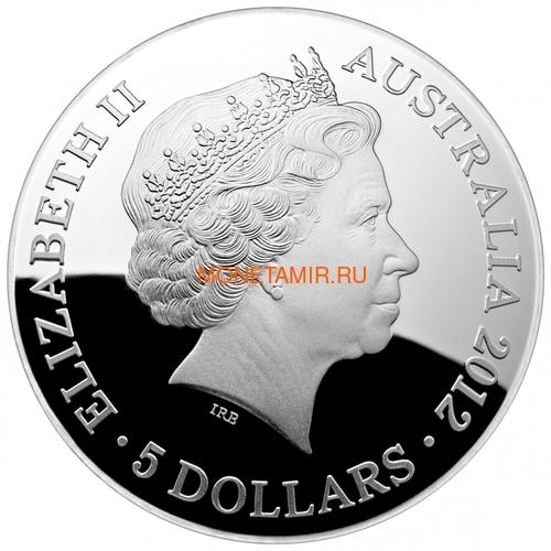 Австралия 5 долларов 2012 Созвездие Крест Южное Полушарие Выпуклая (Australia 5$ 2012 Southern Sky Crux Domed 1oz Silver Coin).Арт.60 (фото, вид 2)