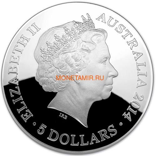 Австралия 5 долларов 2014 Созвездие Орион Южное Полушарие Выпуклая (Australia 5$ 2014 Southern Sky Orion Domed 1oz Silver Coin).Арт.60 (фото, вид 2)
