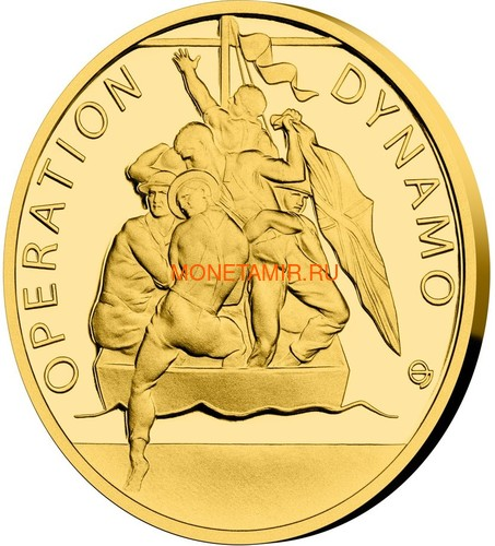 Ниуэ 4х5 долларов 2020 Великая Отечественная Война 1940 год Набор Золотых Монет Нарвик Франция Операция Динамо Британия Корабль Самолет Танк (Niue 4х5$ 2020 Set Gold Coins War 1940 Narvik France Operation Dynamo Britain).Арт.K1,46G/92 (фото, вид 2)