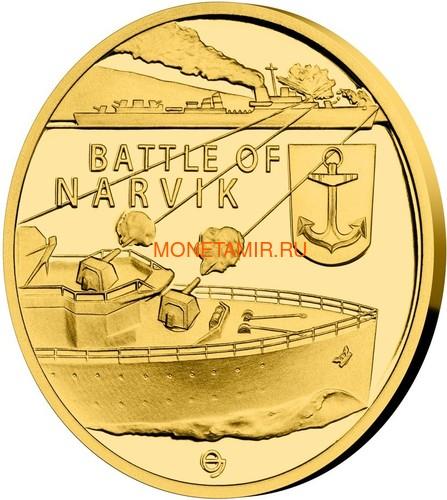 Ниуэ 4х5 долларов 2020 Великая Отечественная Война 1940 год Набор Золотых Монет Нарвик Франция Операция Динамо Британия Корабль Самолет Танк (Niue 4х5$ 2020 Set Gold Coins War 1940 Narvik France Operation Dynamo Britain).Арт.K1,46G/92 (фото, вид 4)