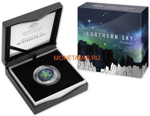 Австралия 5 долларов 2016 Созвездие Лебедь Северное Полушарие Выпуклая (Australia 5$ 2016 Northern Sky Cygnus Domed 1oz Silver Coin).Арт.60 (фото, вид 3)