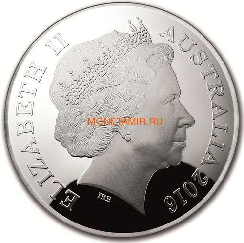 Австралия 5 долларов 2016 Созвездие Лебедь Северное Полушарие Выпуклая (Australia 5$ 2016 Northern Sky Cygnus Domed 1oz Silver Coin).Арт.60 (фото, вид 2)