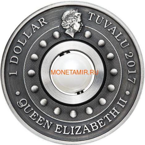 Тувалу 1 доллар 2017 Дракон и Жемчуг (Tuvalu 1$ 2017 Dragon & Pearl 1oz Siler Coin).Арт.92 (фото, вид 5)