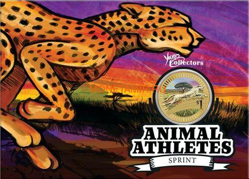 Австралия 1$ 2012 Животные Атлеты Набор 6 Монет (Australia 2012 1$ Animal Athletes Young Collectors Coin Collection).Арт.92 (фото, вид 7)