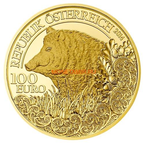 Австрия 100 евро 2013-2018 Дикая Природа Красный Олень Кабан Глухарь Лиса Горный Козел Утка Набор 6 монет (Austria 100E Wildlife in our Sights Gold Coin Set).Арт.92 (фото, вид 5)