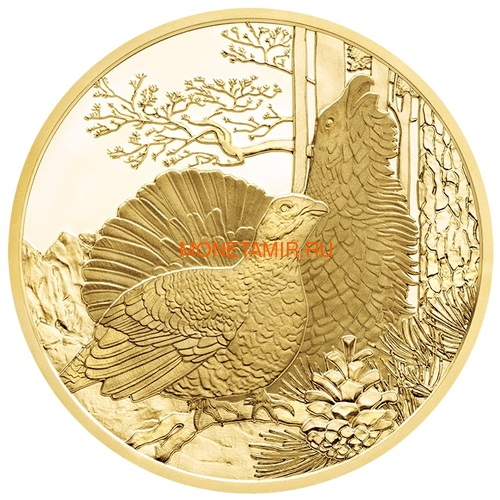Австрия 100 евро 2013-2018 Дикая Природа Красный Олень Кабан Глухарь Лиса Горный Козел Утка Набор 6 монет (Austria 100E Wildlife in our Sights Gold Coin Set).Арт.92 (фото, вид 8)