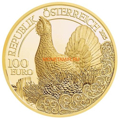 Австрия 100 евро 2013-2018 Дикая Природа Красный Олень Кабан Глухарь Лиса Горный Козел Утка Набор 6 монет (Austria 100E Wildlife in our Sights Gold Coin Set).Арт.92 (фото, вид 7)