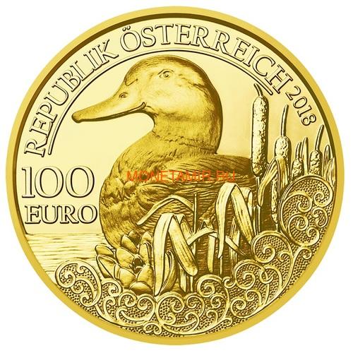Австрия 100 евро 2013-2018 Дикая Природа Красный Олень Кабан Глухарь Лиса Горный Козел Утка Набор 6 монет (Austria 100E Wildlife in our Sights Gold Coin Set).Арт.92 (фото, вид 13)