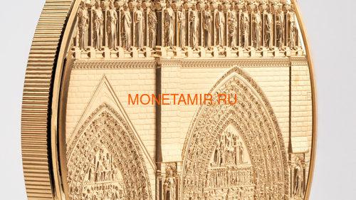 Палау 500 долларов 2021 Метрополис Нотр-Дам де Пари серия Тиффани (Palau 500$ 2021 Metropolis Notre-Dame Tiffany Art 5oz Gold Coin).Арт.92 (фото, вид 1)