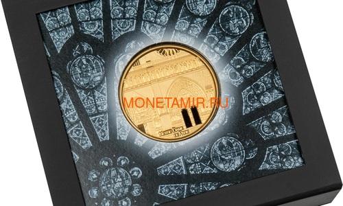 Палау 500 долларов 2021 Метрополис Нотр-Дам де Пари серия Тиффани (Palau 500$ 2021 Metropolis Notre-Dame Tiffany Art 5oz Gold Coin).Арт.92 (фото, вид 5)
