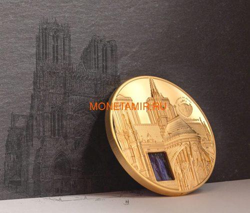 Палау 500 долларов 2021 Метрополис Нотр-Дам де Пари серия Тиффани (Palau 500$ 2021 Metropolis Notre-Dame Tiffany Art 5oz Gold Coin).Арт.92 (фото, вид 6)