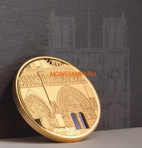Палау 500 долларов 2021 Метрополис Нотр-Дам де Пари серия Тиффани (Palau 500$ 2021 Metropolis Notre-Dame Tiffany Art 5oz Gold Coin).Арт.92 (фото, вид 7)