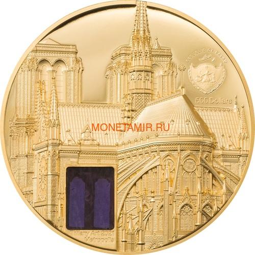 Палау 500 долларов 2021 Метрополис Нотр-Дам де Пари серия Тиффани (Palau 500$ 2021 Metropolis Notre-Dame Tiffany Art 5oz Gold Coin).Арт.92 (фото, вид 2)