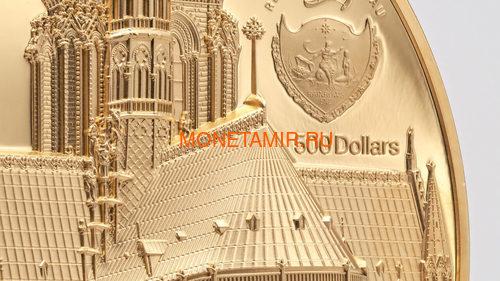 Палау 500 долларов 2021 Метрополис Нотр-Дам де Пари серия Тиффани (Palau 500$ 2021 Metropolis Notre-Dame Tiffany Art 5oz Gold Coin).Арт.92 (фото, вид 4)