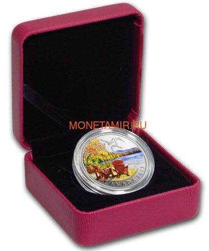 Канада 10 долларов 2017 Осенняя Палитра (2017 Canada $10 Autumn's Palette 1/2 oz Silver Coin).Арт.92 (фото, вид 2)