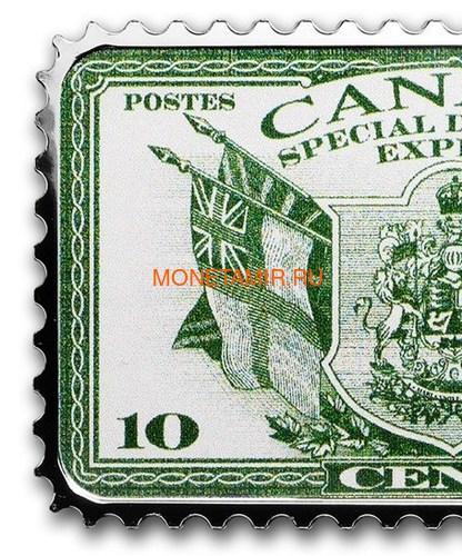 Канада 20 долларов 2019 Герб и Флаги Специальная Доставка серия Исторические Марки Канады (2019 Canada $20 Coat of Arms and Flags Special Delivery Canada's Historical Stamps 1oz Silver Coin).Арт.92 (фото, вид 1)