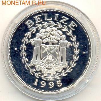 Белиз 10 долларов 1995. Карак 16-го века. (фото, вид 1)
