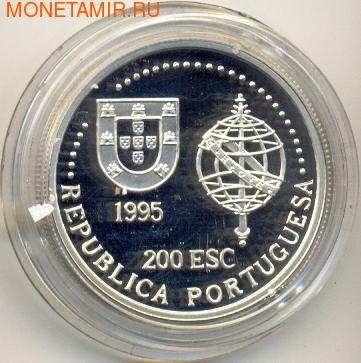 Португалия 200 эскудо 1995. Корабль (фото, вид 1)