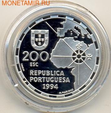 Португалия 200 эскудо 1994. Корабль. Разделение мира (фото, вид 1)