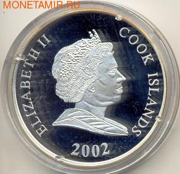 Острова Кука 1 доллар 2002. Зимние олимпийские игры. Санный спорт (фото, вид 1)