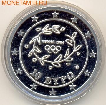 Греция 10 евро 2004. Олимпийские игры - Афины. Прыжки в воду (фото, вид 1)
