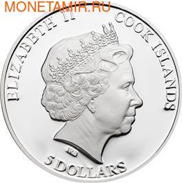 """Острова Кука 5 долларов 2012. """"43-й Форум тихоокеанских островов"""" (фото, вид 1)"""