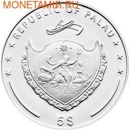 """""""Мишка"""" """"Вязанный""""(девочка). Палау 5 долларов 2012. (фото, вид 1)"""