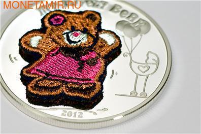 """""""Мишка"""" """"Вязанный""""(девочка). Палау 5 долларов 2012. (фото, вид 2)"""