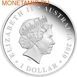 "Австралия 1 доллар 2010.""Празднование Австралии"" ""Бостон"" ""Крокодил"" (фото, вид 1)"