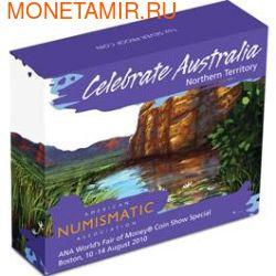 "Австралия 1 доллар 2010.""Празднование Австралии"" ""Бостон"" ""Крокодил"" (фото, вид 3)"
