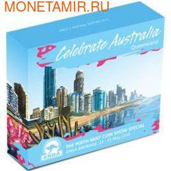 """Австралия 1 долларов 2010. """"Празднование Австралии"""" """"Квинсленд"""" """"Черепаха"""" (фото, вид 3)"""