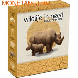 Тувалу 1 доллар 2012.Носорог серия Дикая природа в опасности.Арт.60 (фото, вид 3)