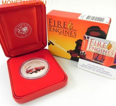 """Острова кука 1 доллар 2006. """"AIRFIELD FIRE ENGINE AA-60 1973""""-""""Пожарные машины мира"""".Арт.000200046729 (фото, вид 2)"""