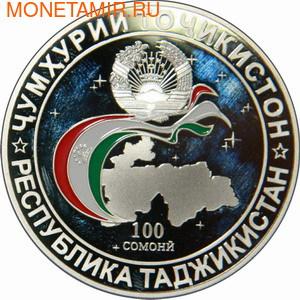 Таджикистан 100 сомони 2011.20 лет Содружества Независимых Государств.Арт.000500039848 (фото, вид 1)