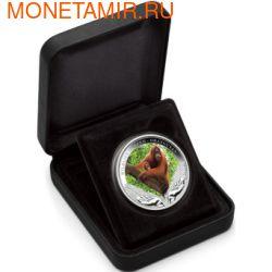 Тувалу 1 доллар 2011.Орангутанг серия Дикая природа в опасности.Арт.60 (фото, вид 2)