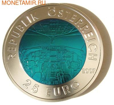 """Австрия 25 евро 2007. """"Австрийская авиация"""" (фото, вид 1)"""