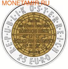 """Австрия 25 евро 2006. """"Европейская спутниковая навигация"""". (фото, вид 1)"""